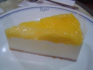 マンゴーとレアチーズ