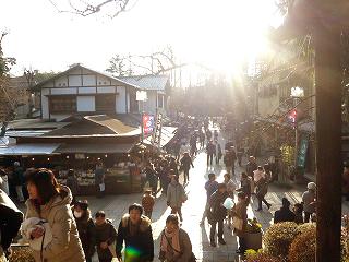 深大寺から参道