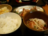 豚の生姜焼き+うどん