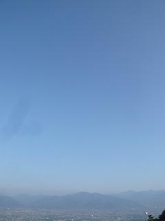 ほったらかし温泉から甲府の景色