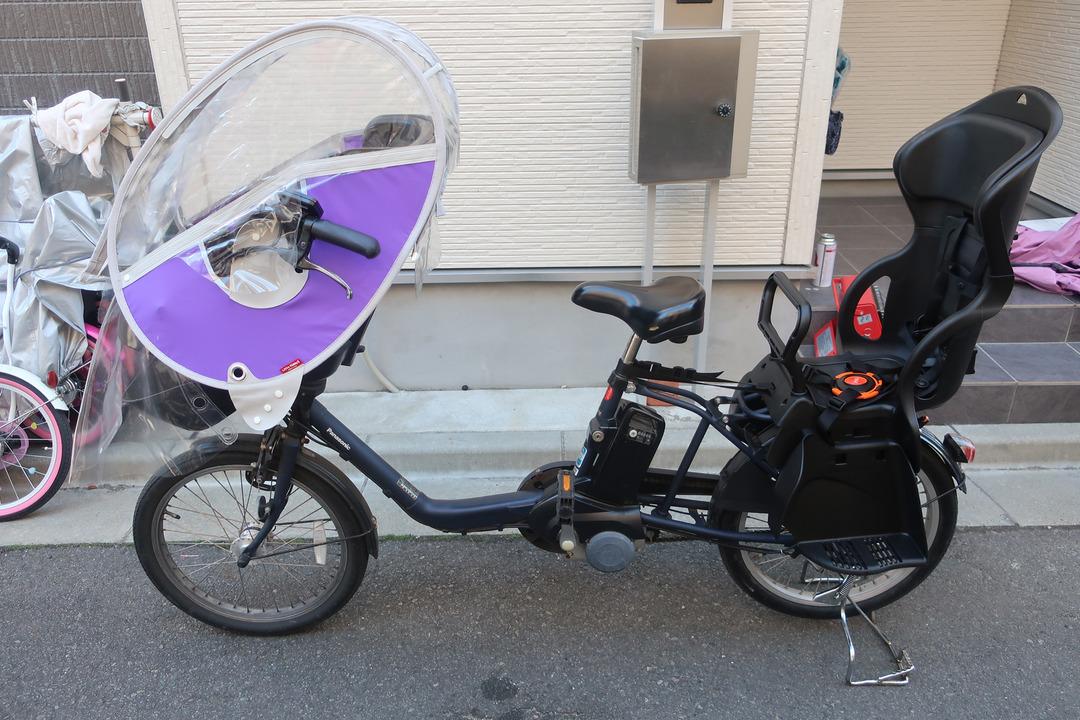 自転車にリアチャイルドシート (9)