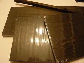 炭焼きの板