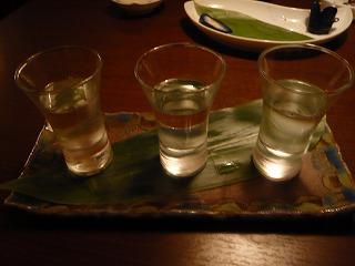 地酒の飲み比べ