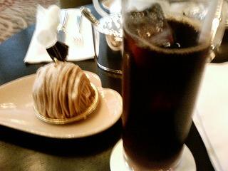 アイスコーヒーとモンブラン