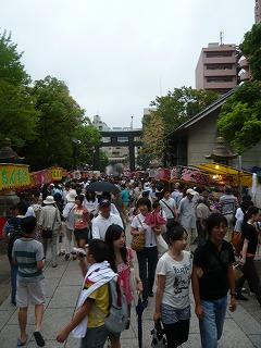 富岡八幡宮例大祭参道