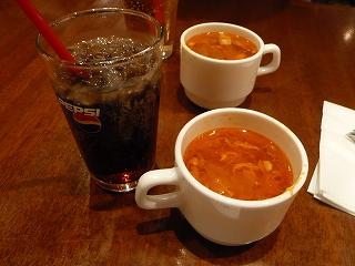 ドリンクとスープ