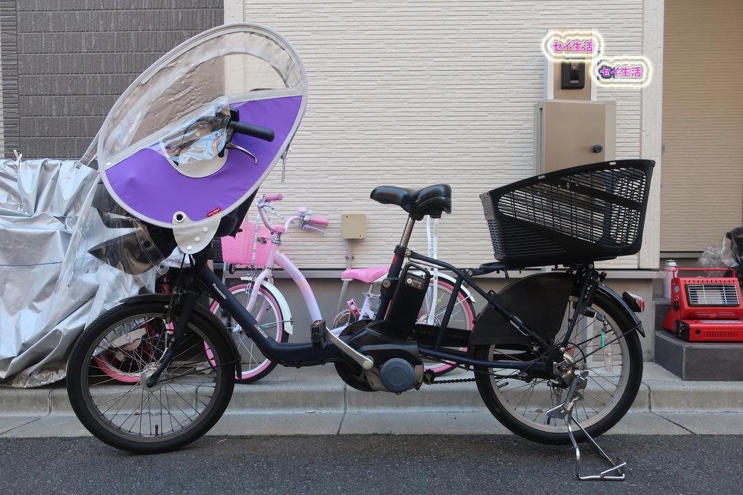 自転車にリアチャイルドシート (1)