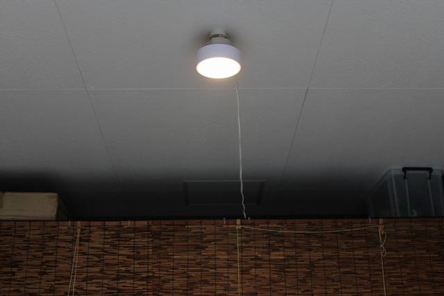 ガレージに照明 (7)