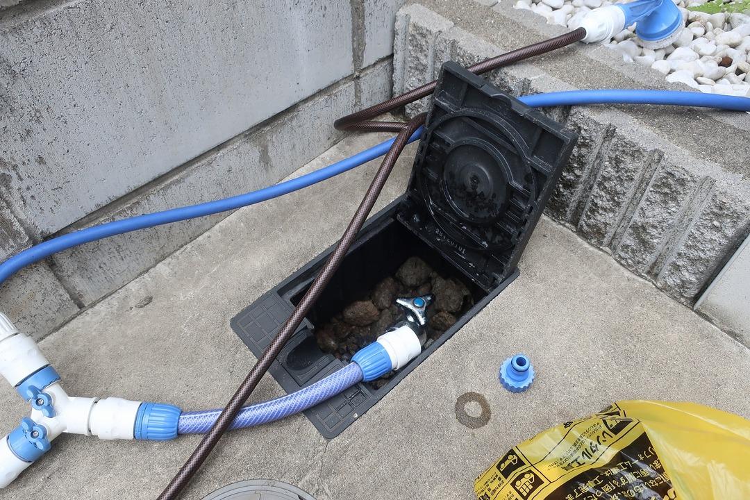 電磁弁で散水栓をオンオフ (12)