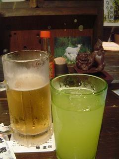 生ビールとシークァーサーサワー