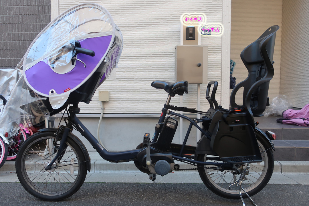 自転車にリアチャイルドシート (8)
