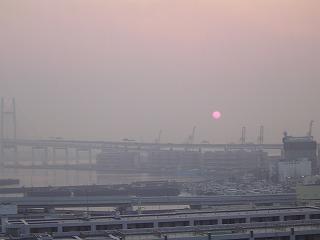 ベイブリッジと太陽2
