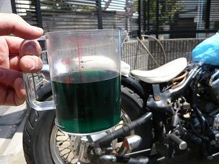 緑色のラジエーター液