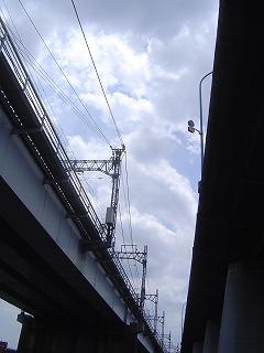 陸橋下からの空