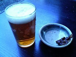 深大寺ビールと蕎麦味噌