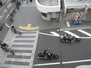 バイクの集団