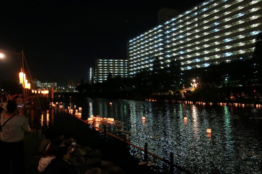 旧中川灯篭流し (5)