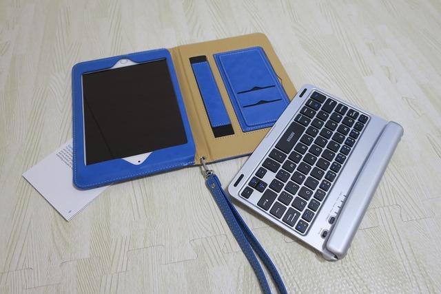 iPad Mini4用Bluetoothキーボードフォリオケースカバー (5)