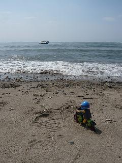 琵琶湖とスロライ君