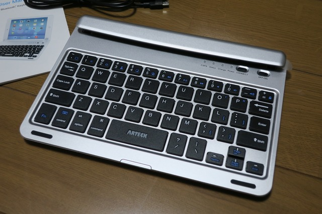 iPad Mini4用Bluetoothキーボードフォリオケースカバー (4)
