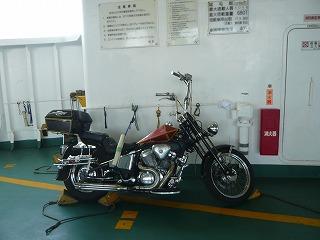 東京湾フェリー船内