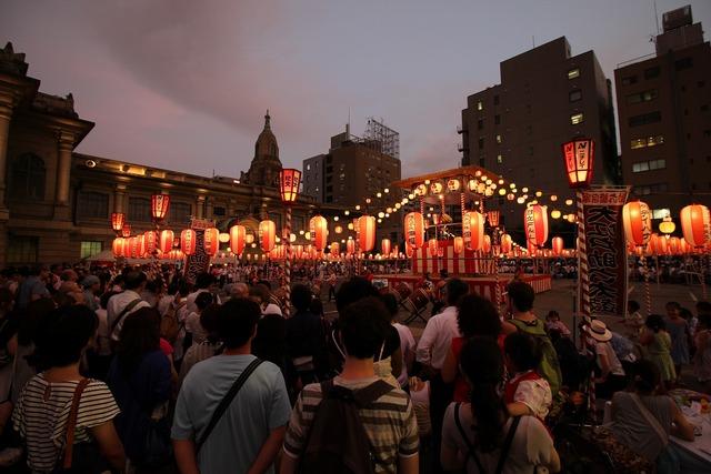 築地本願寺盆踊り (4)