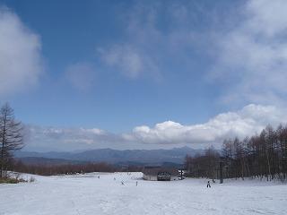 SlowRiderスノーボード雪山と空