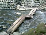 等々力不動尊の川に架かる橋
