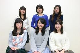 アフレコ時写真(前_平山、三上、小澤、後_田中、神田、矢作)
