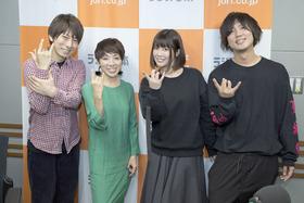 (左より)羽多野渉、坂上みき、前田玲奈、Ryosuke