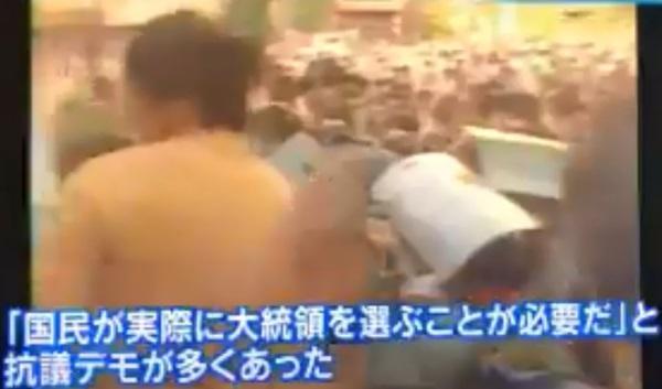 韓国のテレビ局YTNの東京支局長を取材するTBS