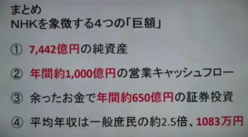 上念司氏がNHKの財務状況を調べると
