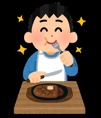 ステーキ食べる