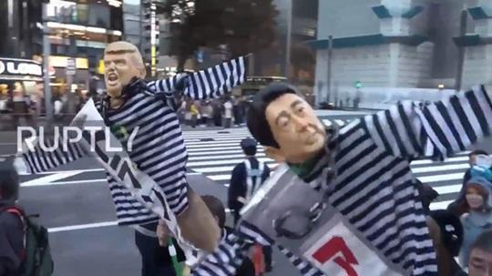 デモ 反アベ反トランプ
