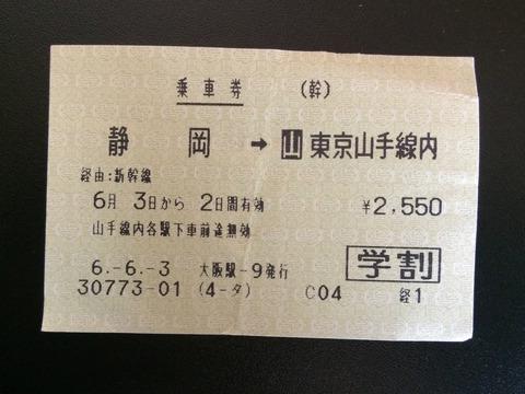940603静岡駅ー東京駅