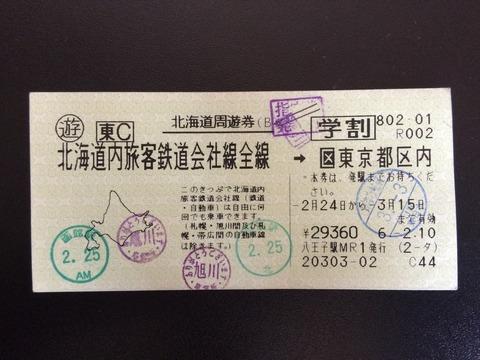 940224北海道周遊券