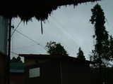 今日の天気:雨、室温25℃、7:30am