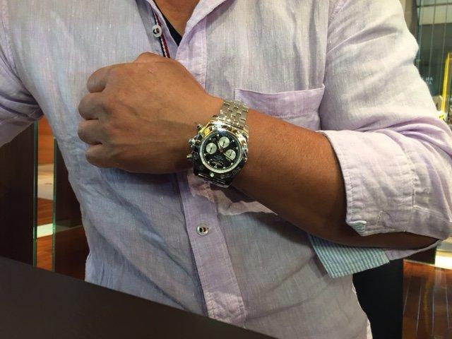お客様の声   迫力があって、いい時計です