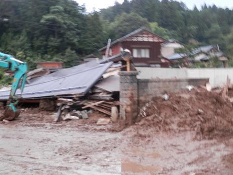 長岡で豪雨被害
