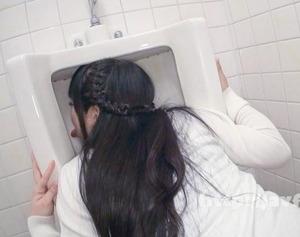 【ドスケベ肉便器】公衆トイレの便器も舐める人格崩壊した女の底辺セクロスが超エロ!