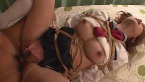 【ドスケベプレイ】緊縛した巨乳JKを精液便所扱いで性欲処理セクロスwww