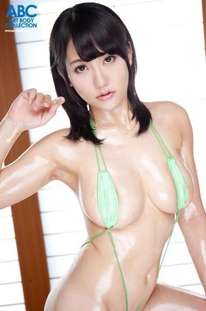 【神乳】くびれ巨乳な玉木なるみの乳房をローションで楽しむセクロスwww