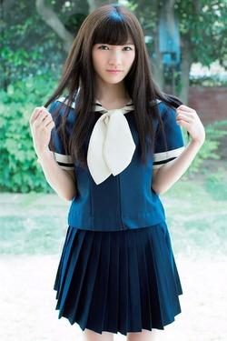 【3次美少女】制服が似合うwww岡田奈々ちゃんのグラビア&自撮り画像!