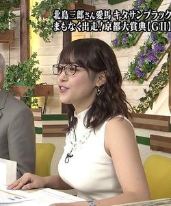【3次巨乳なお姉さん】女子アナ・鷲見玲奈さんの巨乳ニット画像www