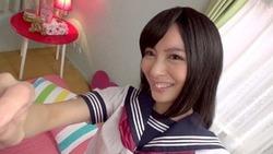 【3次美少女】正統派美少女の制服M字開脚くぱぁwww紺色ソックスでセクロス!