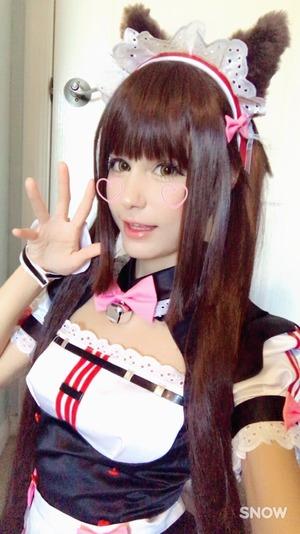 JAPAN大好きな美10代小娘外国レイヤー写真☆アへ顔自撮りもあるよ☆