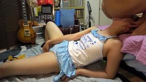 ロリ体型の保母さんに女児水着を着せて胃液逆流イラマ調教www