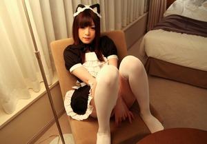 【清楚系ビッチ】メイドコスが似合いすぎwww猫系美少女・雪本芽衣のホテルセクロス画像!
