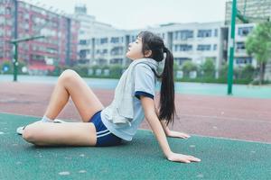 清潔感↑↑美10代小娘のポニーテールとブルマのえろス写真☆