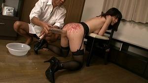 【悲愴感エロス】夫の不祥事をもみ消すために奴隷堕ちした黒髪巨乳人妻www